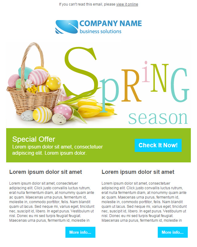 FREE Easter Email Templates For SendBlaster - Special offer email template