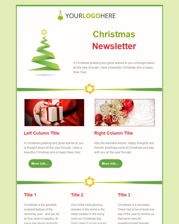Free Christmas And New Year Email Templates
