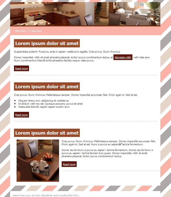 plantilla de email para hoteles