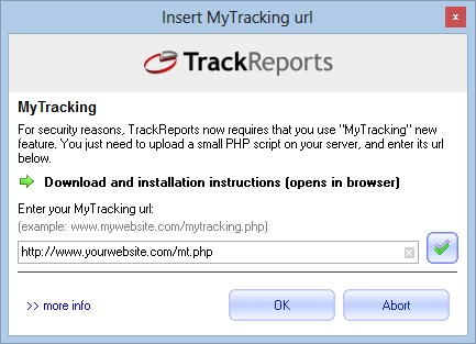 mytracking url