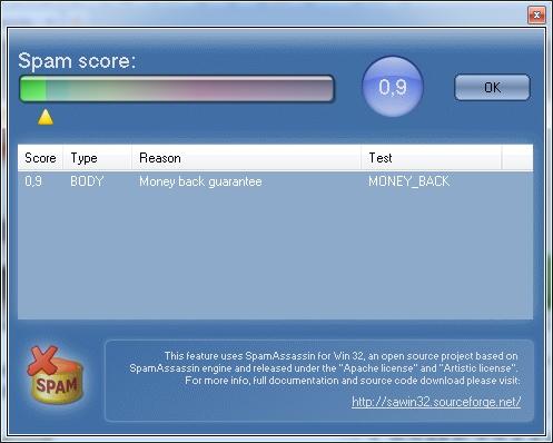 spam score check