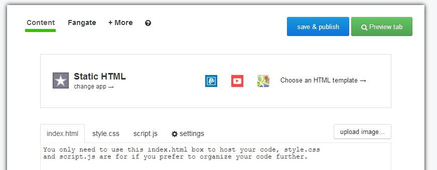static html admin mode