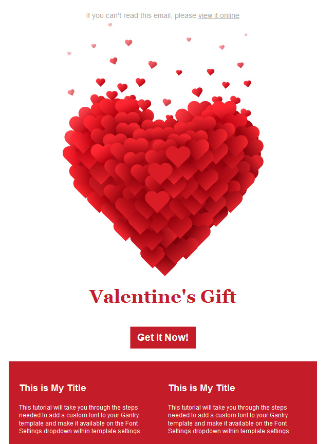 valentine'day email template 2