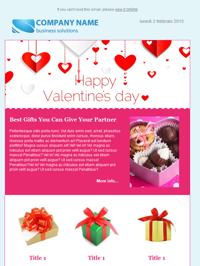 valentine'day email template 3