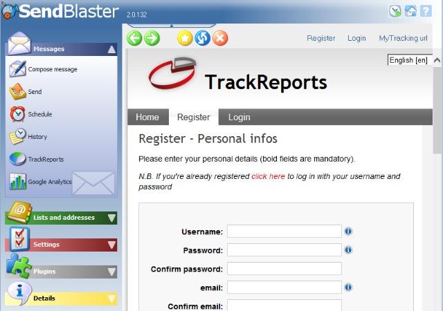 trackreports registration