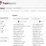 trackreports unique contacts report